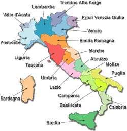 Le regioni d 39 italia un sito interamente dedicato alle - Regioni italiane non bagnate dal mare ...
